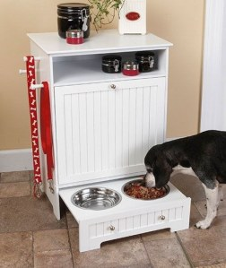 Drawer Turned Pet Food Station
