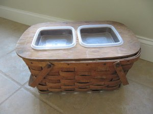 Picnic Basket Food Bowl Holder